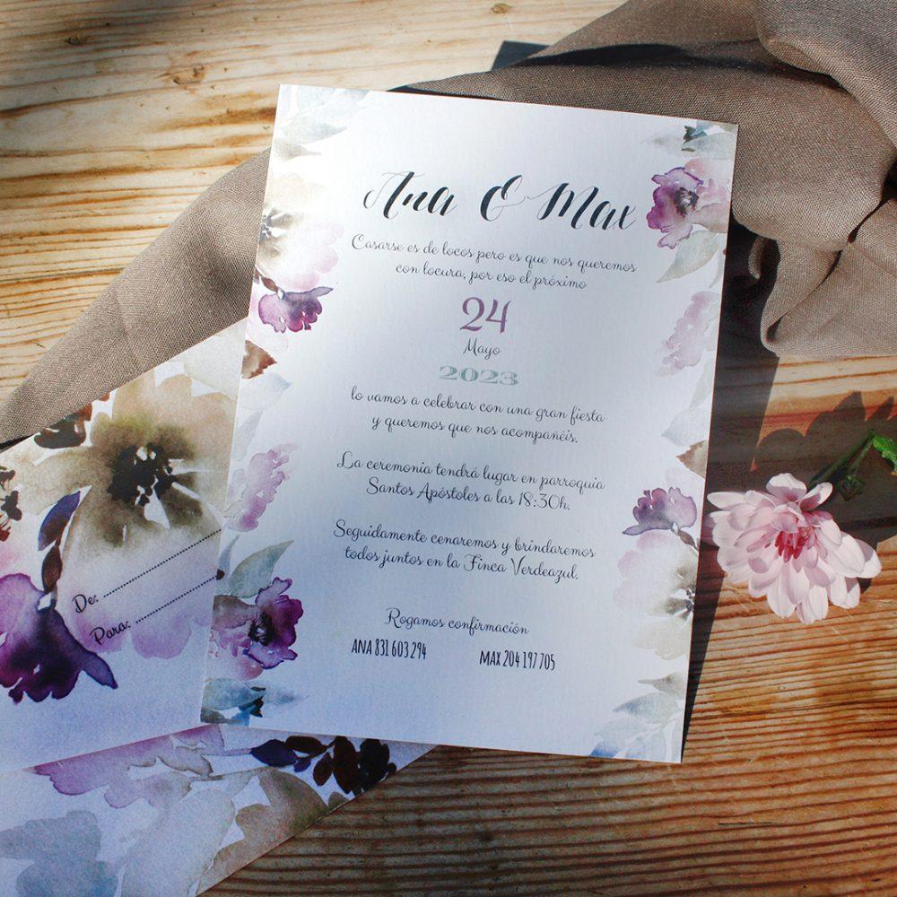 Los textos de una invitación de boda