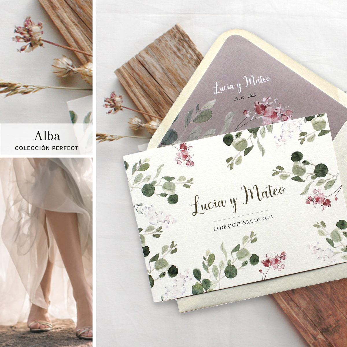invitaciones boda madera