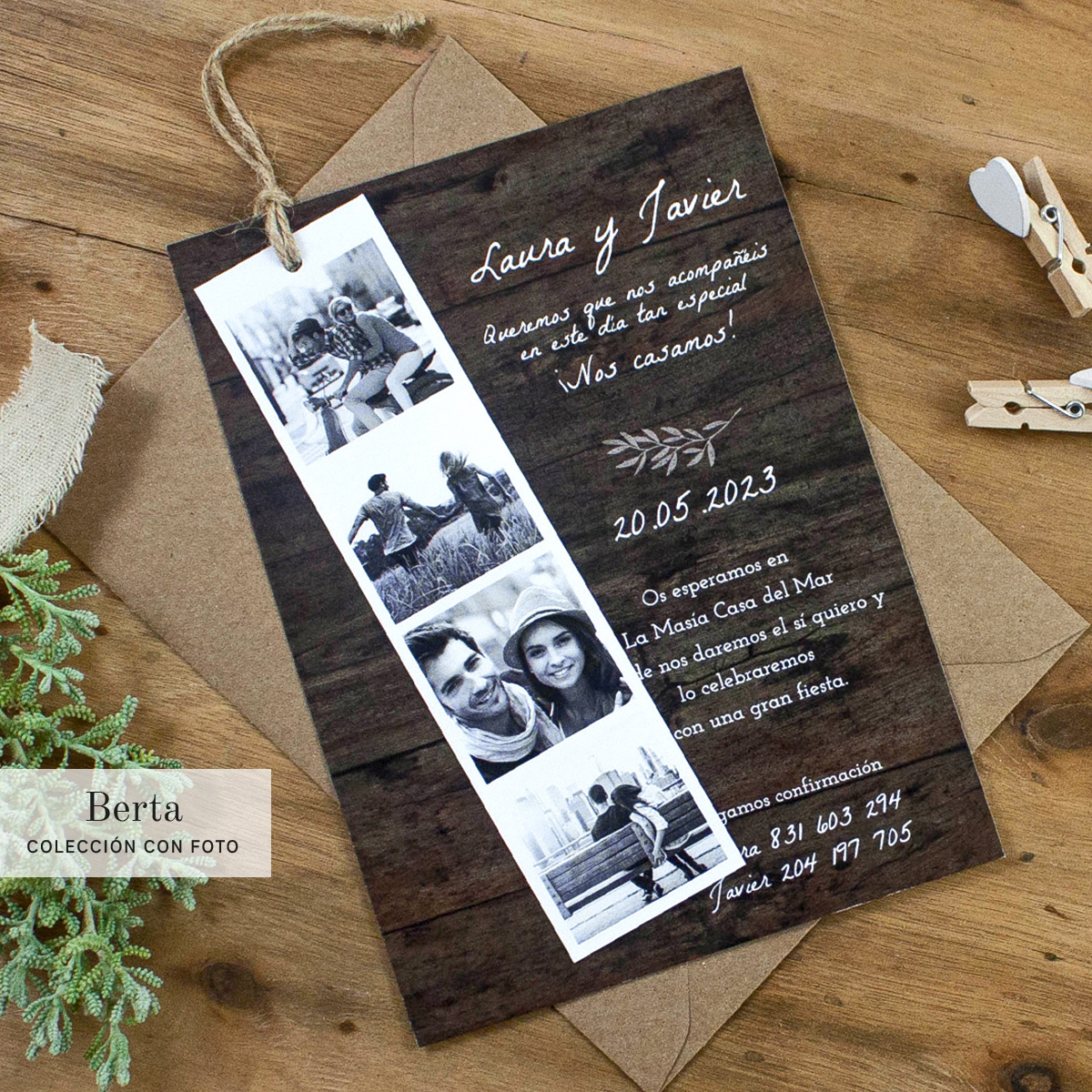 invitaciones boda mediterránea