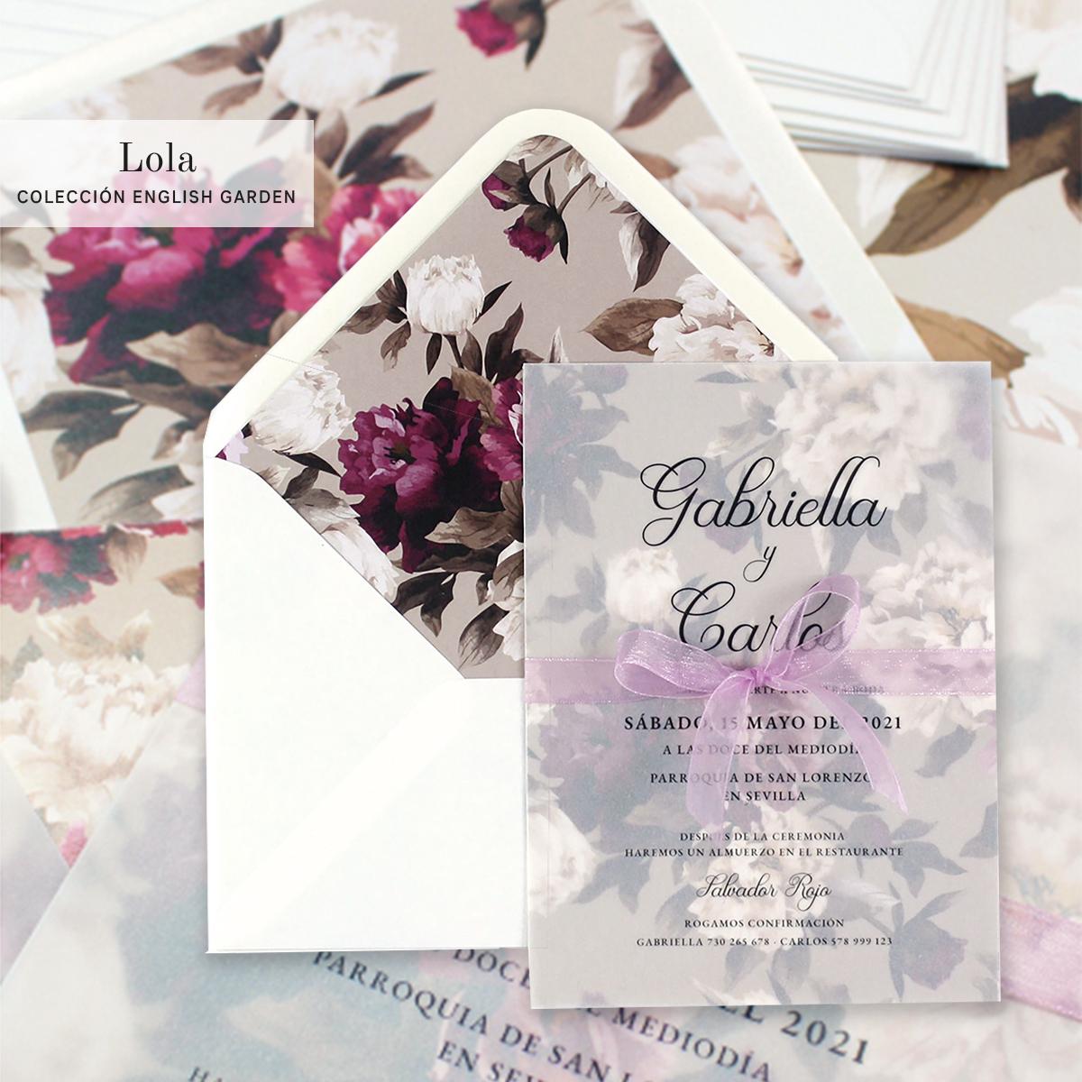 invitaciones boda kraft