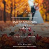 ✨ ¡¡15% de DTO.✨ en TODOS los productos de COMOTINTA!! ✨ ¡¡Sí, sí!! Celebramos la temporada de #otoño con un súper descuento en: 💐 Invitaciones de boda. 💐 Seating Plan. 💐 Minutas. 💐 Números de mesa. 💐 ... ¡¡Y todos nuestros complementos!!Haz clic en el enlace del perfil, adéntrate en las colecciones de boda más de moda y decora tu gran día ahora con el 15% de descuento 🥳*Promoción válida hasta el 18 de octubre (no acumulable a otras promociones).#comotinta #bodasotoño #bodas #bodas2022 #bodas2021 #wedding #wedding2021 #wedding2022 #invitacionesdeboda #diab #bodasnet #bodasconestilo