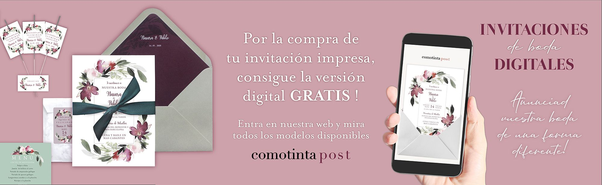 Invitaciones de boda Digitales