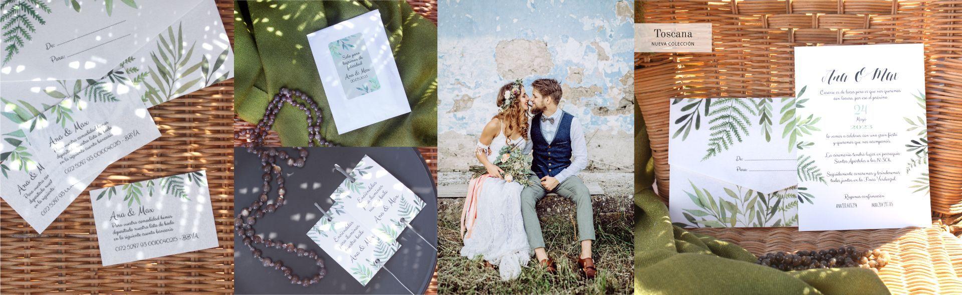 Toscana: Invitación de boda Floral Deco